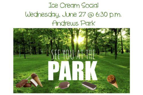 Ice Cream Social at Andrews Park