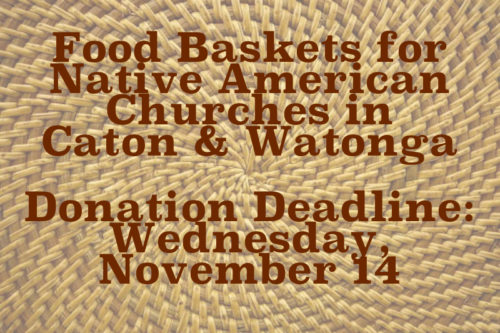 Food Baskets for Native American Churches in Canton & Watonga