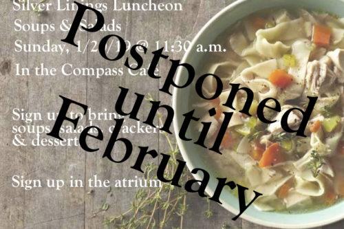 Silver Linings Luncheon Postponed