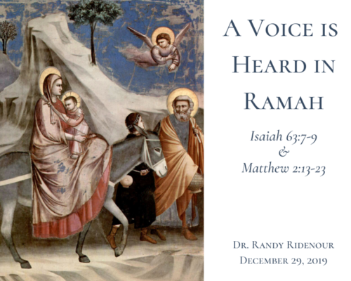 A Voice Is Heard In Ramah