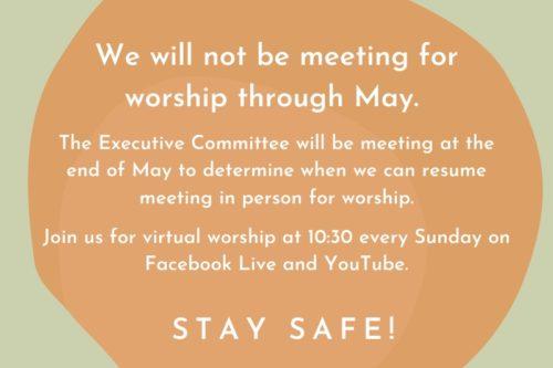 Virtual Worship through May