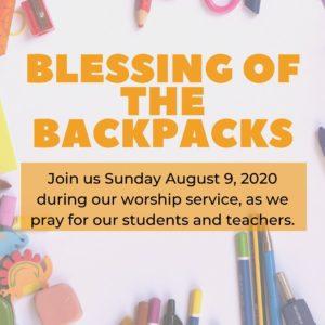 Blessing of the Backpacks