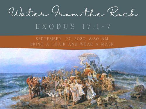 Outdoor Worship 9/27/20