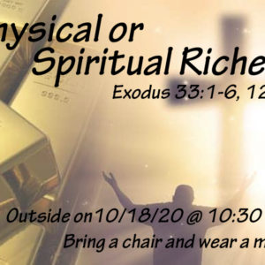 outdoor worship 10/18/20