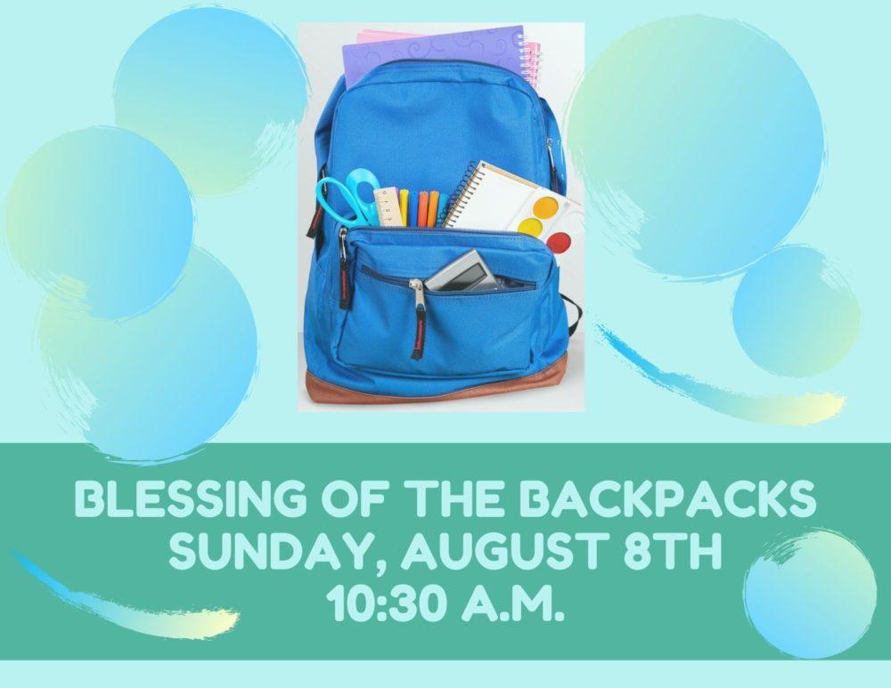 Blesssing of the Backpacks